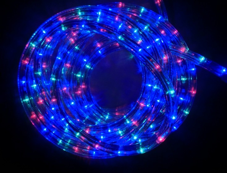 4 wire LED round rope light 120VAC